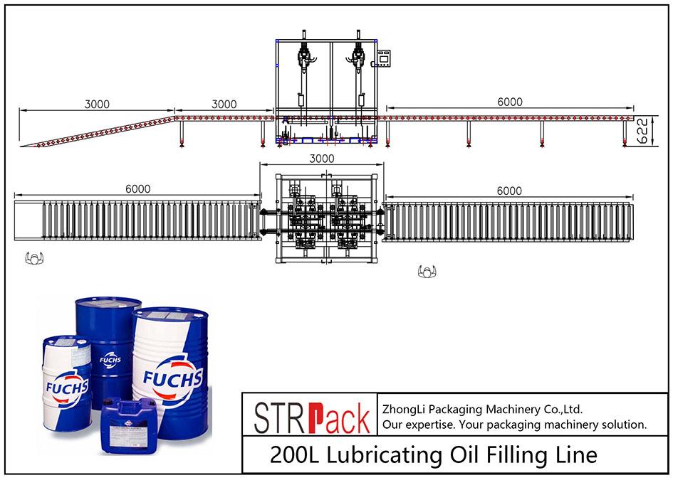 Automatikus 200L kenőolaj-töltő vezeték