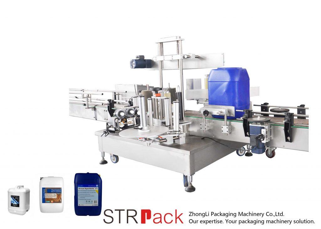 Automatikus kétoldalas címkéző gép 5-25 literes dobhoz
