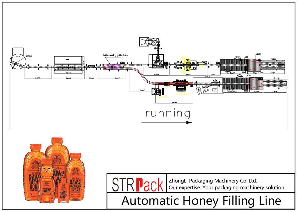 Automatikus méz töltő vonal