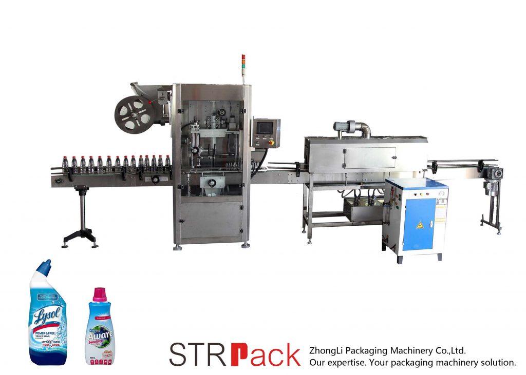 Automatikus zsugorodó hüvely címkéző gép