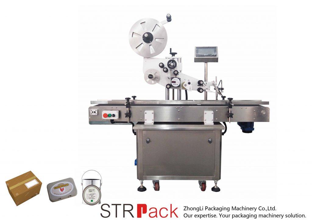 Automatikus függőleges sík öntapadós címkéző gép