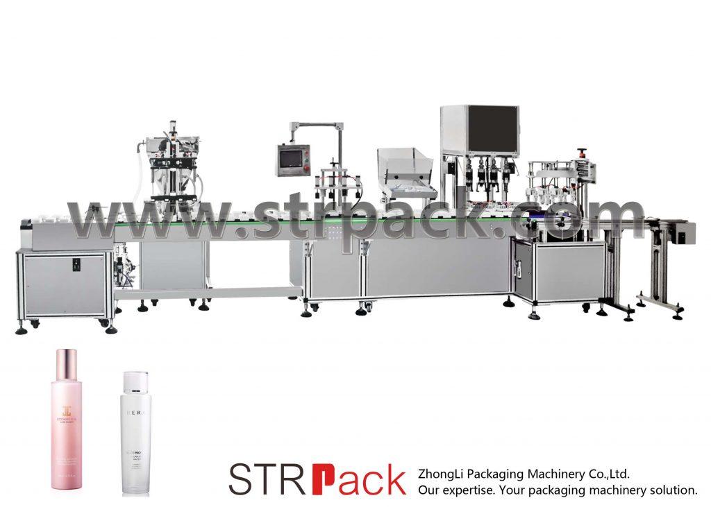 Automatikus vízemulziós töltő és kupakoló gép