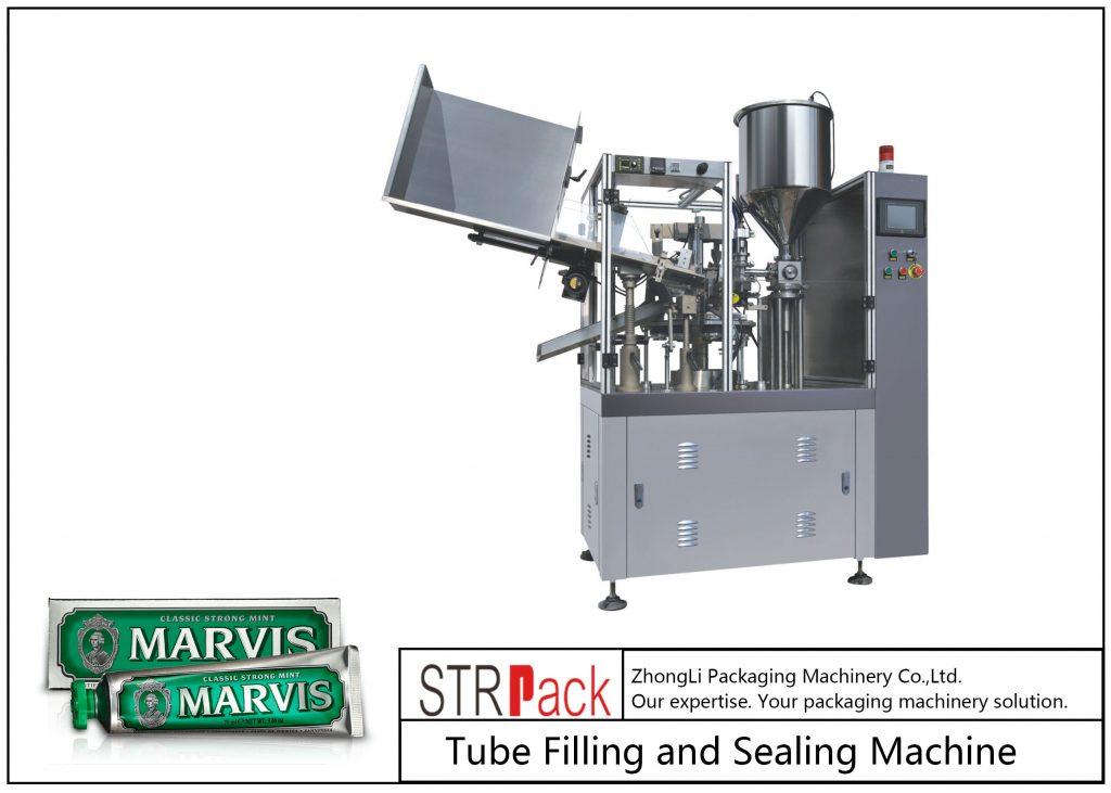 SFS-60 műanyag cső töltő és tömítő gép